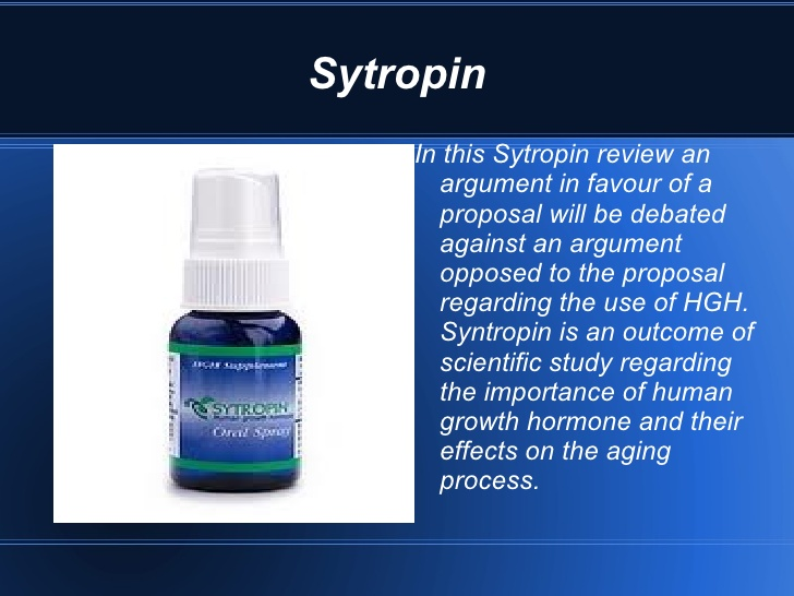 Sytropin Growth Hormone - Nutrition